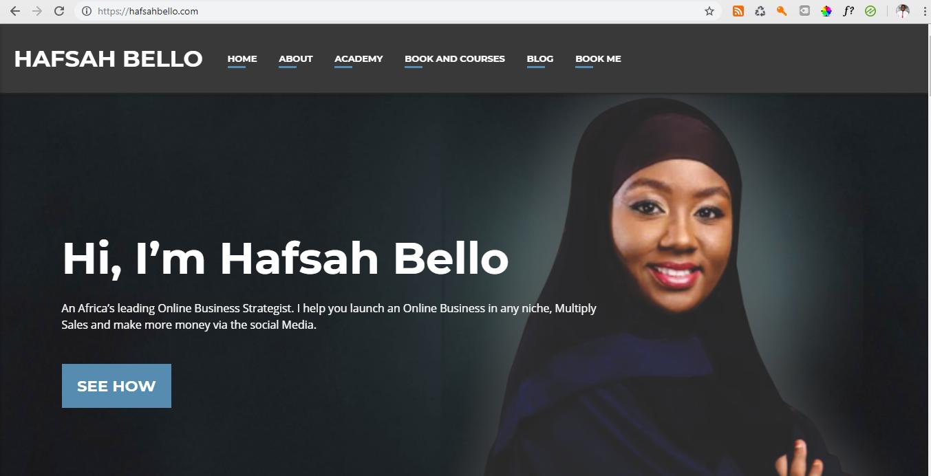 Hafsah Bello Official Website